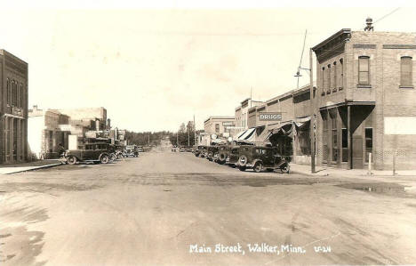 Main Street, Walker Minnesota, 1937
