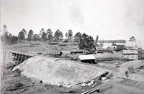 Site of Walker Minnesota on Leech Lake, 1880