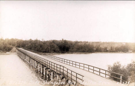 Bridge at Shingobee Bay, Walker Minnesota, 1930's