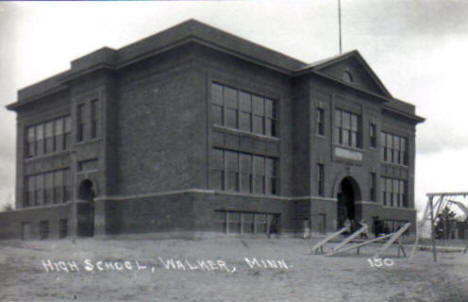 High School, Walker Minnesota, 1930's?