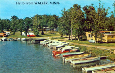 Leech Lake scene, Walker Minnesota, 1960's