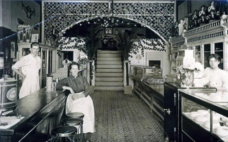 Interior of a Bakery, Walker Minnesota, 1910's