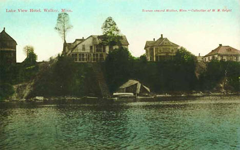 Lake View Hotel, Walker Minnesota, 1910