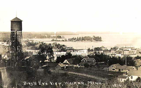 Bird's-eye view, Walker Minnesota, 1915