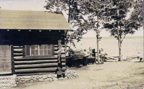 Merrits Lodge at Walker, Minnesota, 1927