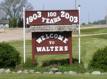 Walter Minnesota welcome sign