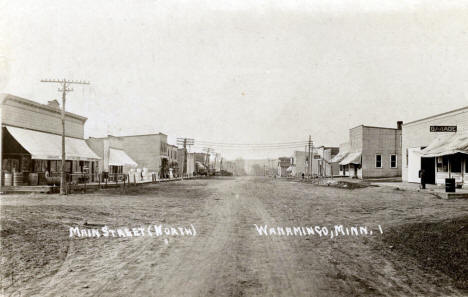 Main Street North, Wanamingo Minnesota, 1900