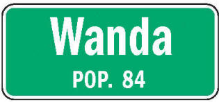 Wanda Minnesota population sign