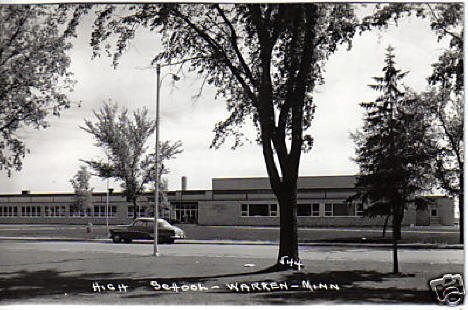 High School, Warren Minnesota, late 1950's or early 1960's
