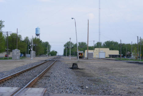 Railroad tracks and water tower, Warren Minnesota, 2008