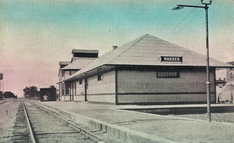 Great Northern Railroad Depot, Warren Minnesota, 1912