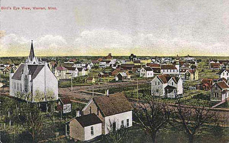 Birds Eye View, Warren Minnesota, 1911