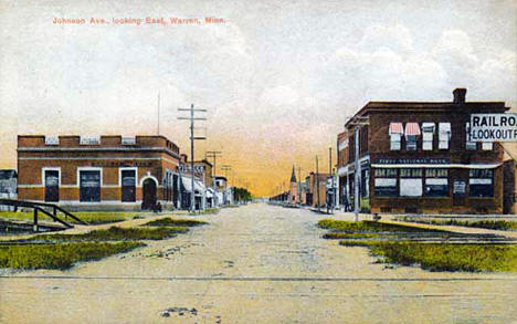 Johnson Avenue Looking East, Warren Minnesota, 1912