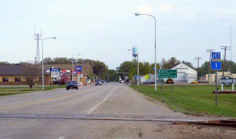 Entering Warren from the south, Warren Minnesota, 2008