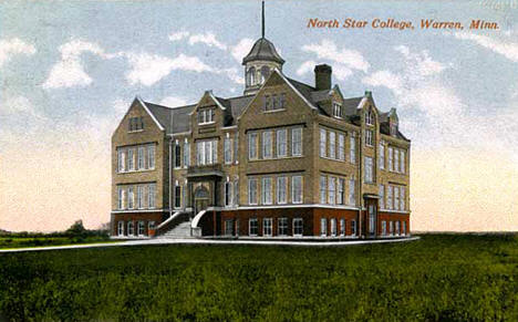 North Star College in Warren Minnesota, 1920