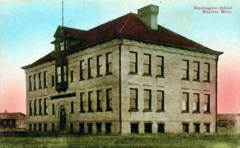 Washington School, Warren Minnesota, 1910