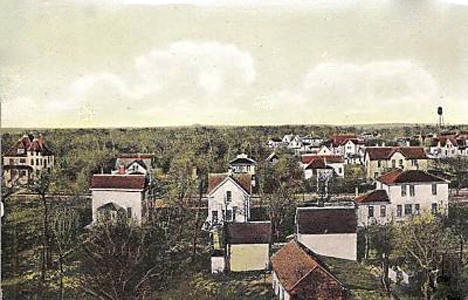 Birds eye view, Warren Minnesota, 1908
