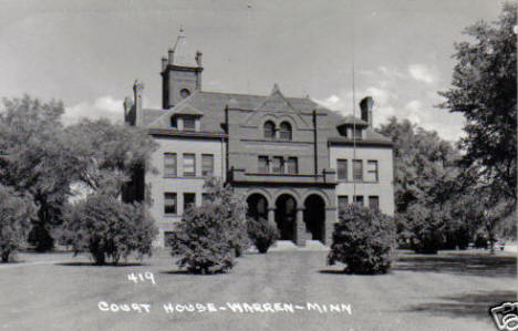 Court House, Warren Minnesota, 1940's?
