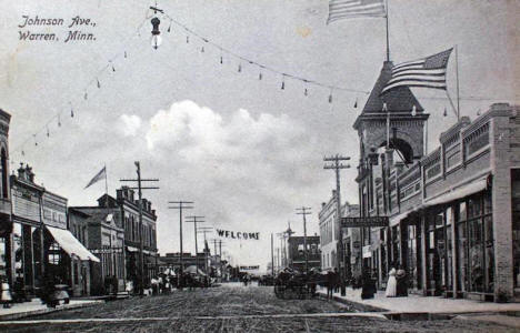 Johnson Avenue, Warren Minnesota, 1911