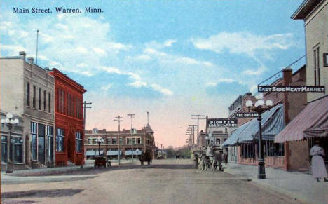 Main Street, Warren Minnesota, 1900's