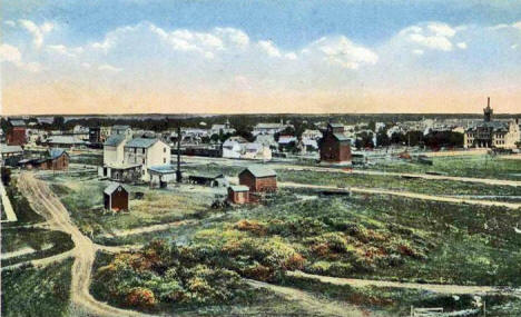 Birds eye view, Warren Minnesota, 1915