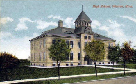 High School, Warren Minnesota, 1916