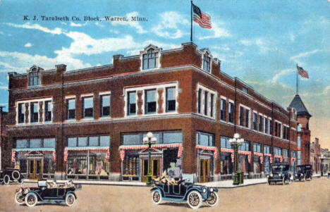 K. J. Taralseth Co. Block, Warren Minnesota, 1925