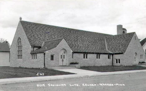 Our Saviours Lutheran Church, Warren Minnesota, 1950's