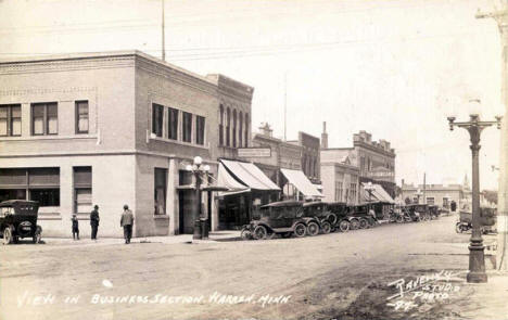 Business Section, Warren Minnesota, 1920's