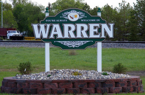 Welcome Sign, Warren Minnesota, 2008