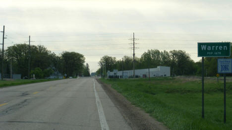 Entering Warren from the west, Warren Minnesota, 2008