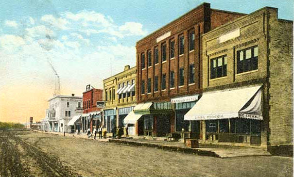 Main Street, Warroad Minnesota, 1910