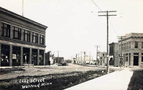 Lake Street, Warroad Minnesota, 1915