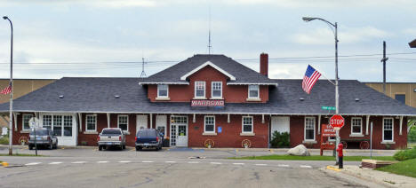 Former Railroad Depot now City Hall, Warroad Minnesota, 2009