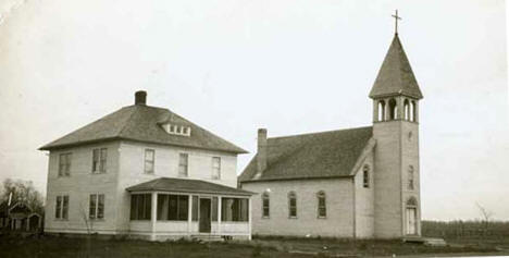 St. Mary's Church and parsonage, Warroad Minnesota, 1936