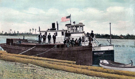 Steamer Knute Nelson in Warroad Harbor, 1908