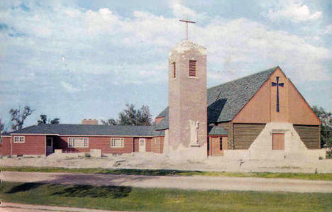 St. Mary's Church and Rectory, Warroad Minnesota, 1960's