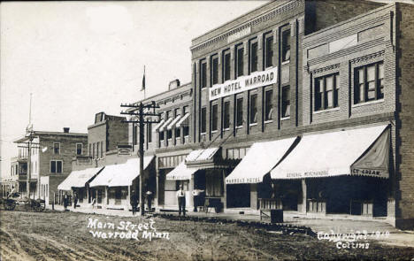 Main Street, Warroad Minnesota, 1914