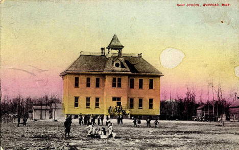 Warroad High School, Warroad Minnesota, 1907