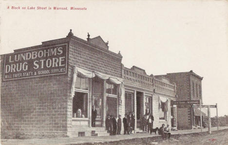 A Block on Lake Street, Warroad Minnesota, 1908