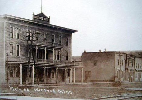 Main Street, Warroad Minnesota, 1910's?