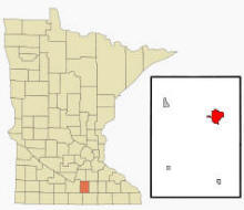 Location of Waseca, Minnesota