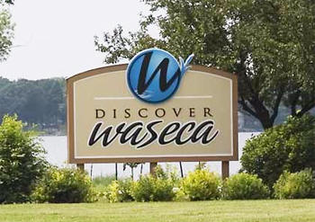 Waseca Minnesota Welcome Sign
