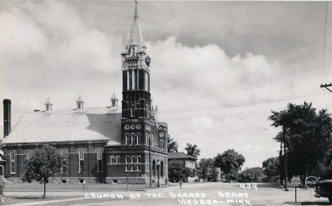 Church of the Sacred Heart, Waseca Minnesota, 1940's?