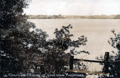 Clear Lake and Waseca as seen from the Maplewood Resort, Waseca Minnesota, 1913