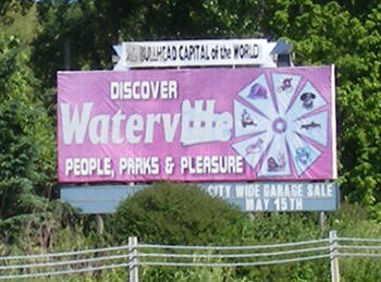 Waterville Minnesota sign