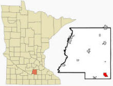 Location of Waterville, Minnesota