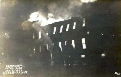 Commercial Hotel Fire, Waterville Minnesota, 1947