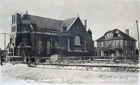 New Catholic Church, Watkins Minnesota, 1910's