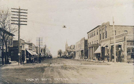 Main Street South, Watkins Minnesota, 1925